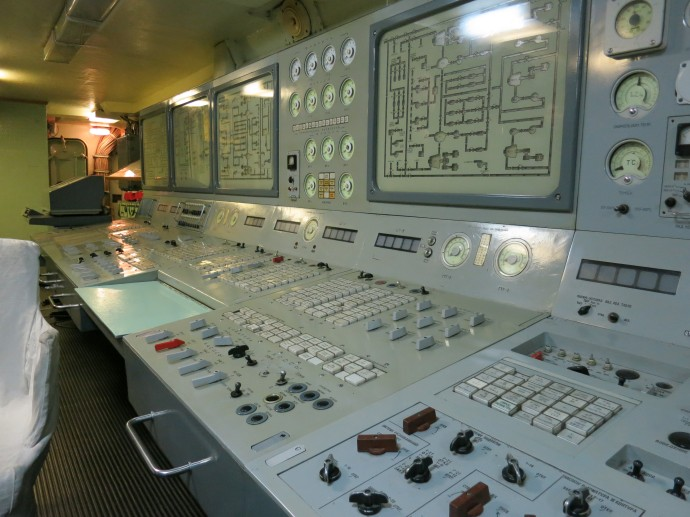 Nuclear reactor control panel